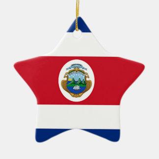 Adorno De Cerámica Bandera de Costa Rica
