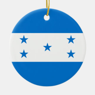 Adorno De Cerámica Bandera de Honduras
