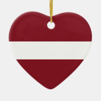 Adorno De Cerámica Bandera de Letonia