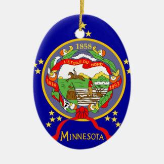 Adorno De Cerámica Bandera de Minnesota