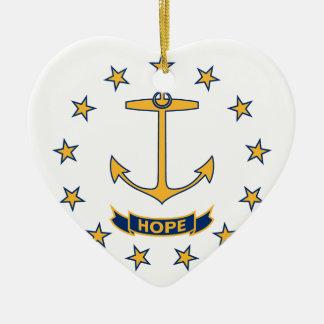 Adorno De Cerámica Bandera de Rhode Island
