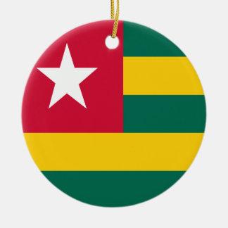 Adorno De Cerámica Bandera de Togo