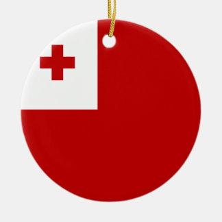 Adorno De Cerámica Bandera de Tonga