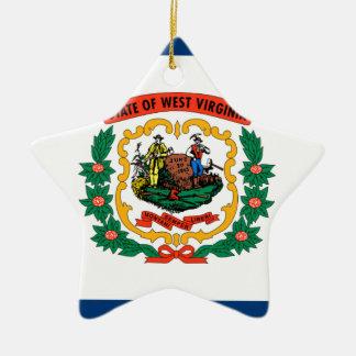 Adorno De Cerámica Bandera de Virginia Occidental