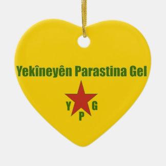 Adorno De Cerámica Bandera de YPG