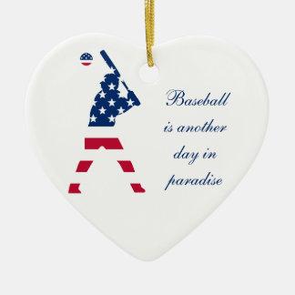 Adorno De Cerámica Bandera del americano del béisbol de América