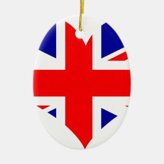 Adorno De Cerámica Bandera del corazón de Union Jack