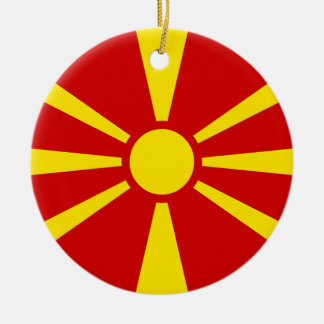Adorno De Cerámica Bandera del República de Macedonia