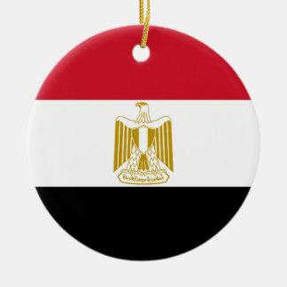 Adorno De Cerámica Bandera nacional del mundo de Egipto