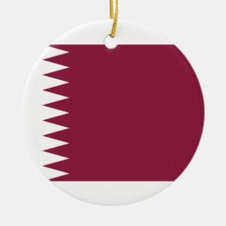 Adorno De Cerámica Bandera nacional del mundo de Qatar