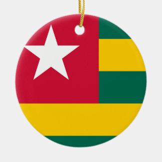 Adorno De Cerámica Bandera nacional del mundo de Togo
