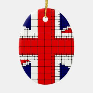 Adorno De Cerámica Bandera Reino Unido del Union Jack patriótica