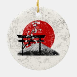 Adorno De Cerámica Bandera y símbolos de Japón ID153