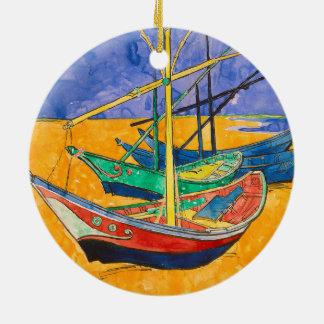 Adorno De Cerámica Barcos de Vincent van Gogh impresionistas