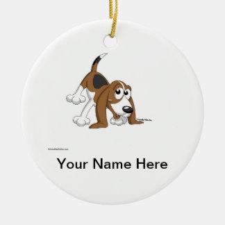 Adorno De Cerámica Beagle, Coonhound, Basset Hound