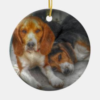 Adorno De Cerámica Beagles de Brother