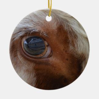 Adorno De Cerámica Belleza en el ojo de la vaca del espectador