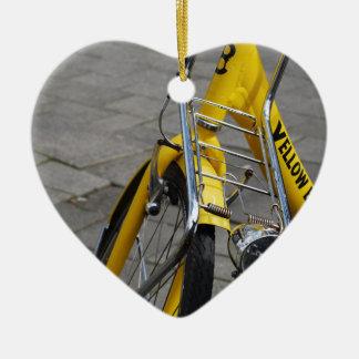 Adorno De Cerámica Bici amarilla Amsterdam