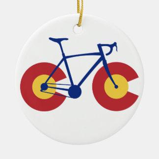 Adorno De Cerámica Bicicleta de la bandera de Colorado