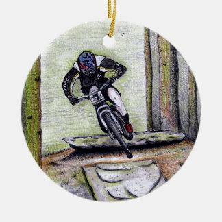 Adorno De Cerámica Bmx del mtb de Llandegla de la bici de montaña