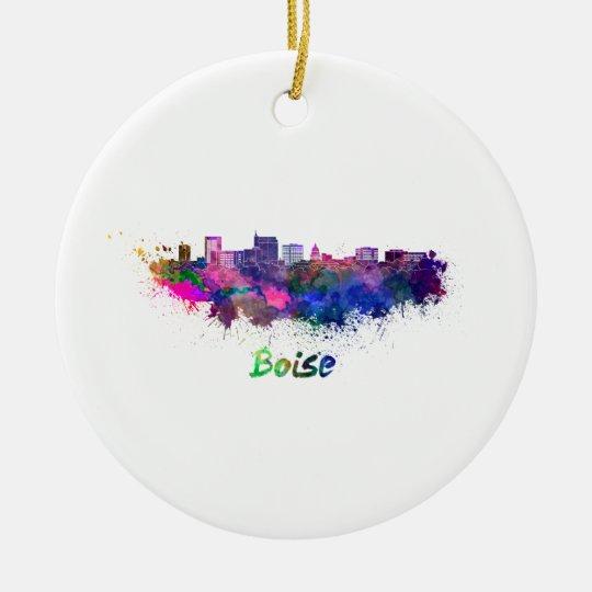 Adorno De Cerámica Boise skyline in watercolor