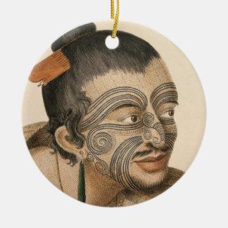 Adorno De Cerámica Bosquejo de un hombre maorí, C. 1769