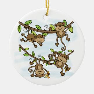Adorno De Cerámica Brillo del mono