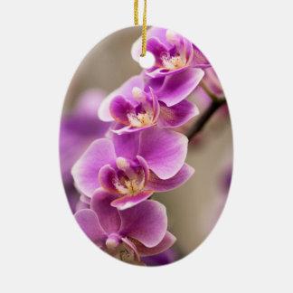 Adorno De Cerámica Cadena de flor de color rosa oscuro de la orquídea
