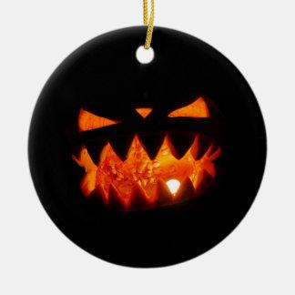 Adorno De Cerámica Calabaza de Halloween