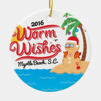 Adorno De Cerámica Caliente los deseos de Myrtle Beach