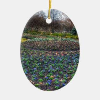 Adorno De Cerámica Cama de flor del arboreto de Dallas y de los
