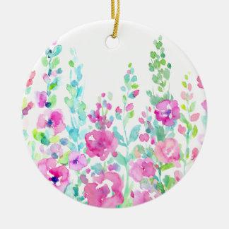 Adorno De Cerámica Cama floral abstracta de la acuarela