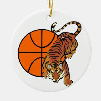 Adorno De Cerámica Camisetas y regalos del baloncesto del tigre