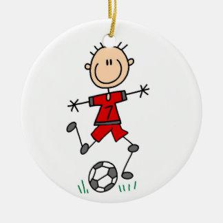 Adorno De Cerámica Camisetas y regalos del retroceso del fútbol del