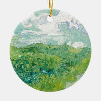 Adorno De Cerámica campos de trigo verdes de Van Gogh