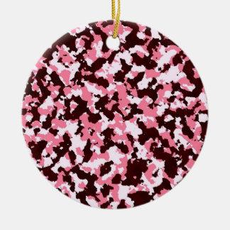 Adorno De Cerámica Camuflaje rosado