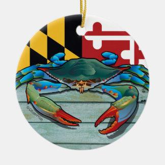 Adorno De Cerámica Cangrejo azul Maryland
