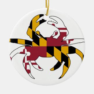 Adorno De Cerámica Cangrejo de la bandera de Maryland