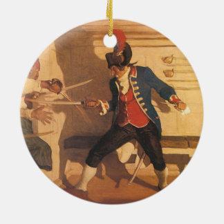 Adorno De Cerámica Capitán del pirata del vintage, lucha de la espada