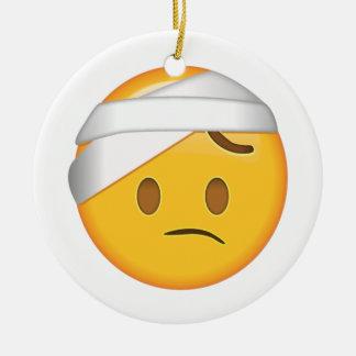 Adorno De Cerámica Cara con el Cabeza-Vendaje - Emoji