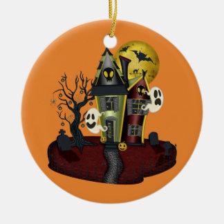 Adorno De Cerámica Casa encantada de Halloween