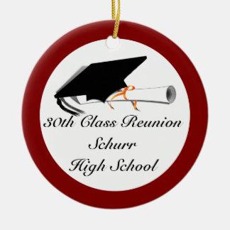 Adorno De Cerámica Casquillo de la graduación con el diploma -