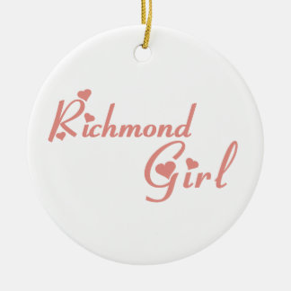 Adorno De Cerámica Chica de la colina de Richmond