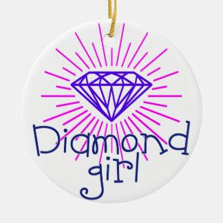 Adorno De Cerámica chica del diamante, gema que brilla