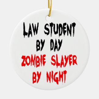 Adorno De Cerámica Chiste del zombi del estudiante de Derecho