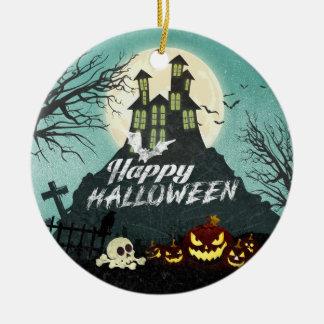 Adorno De Cerámica Cielo nocturno fantasmagórico Halloween del traje