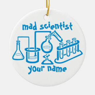 Adorno De Cerámica Científico enojado
