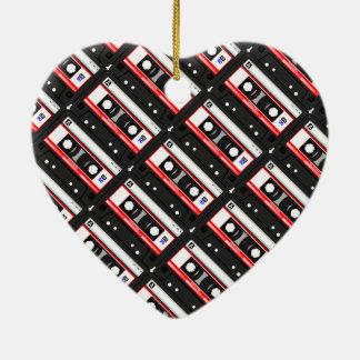 Adorno De Cerámica Cinta de casete retra de los años 80