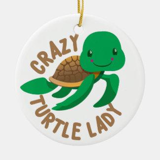 Adorno De Cerámica círculo loco de la señora de la tortuga
