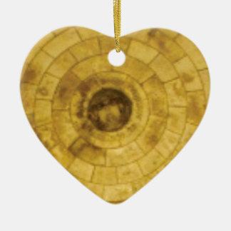 Adorno De Cerámica círculos de piedra amarillos
